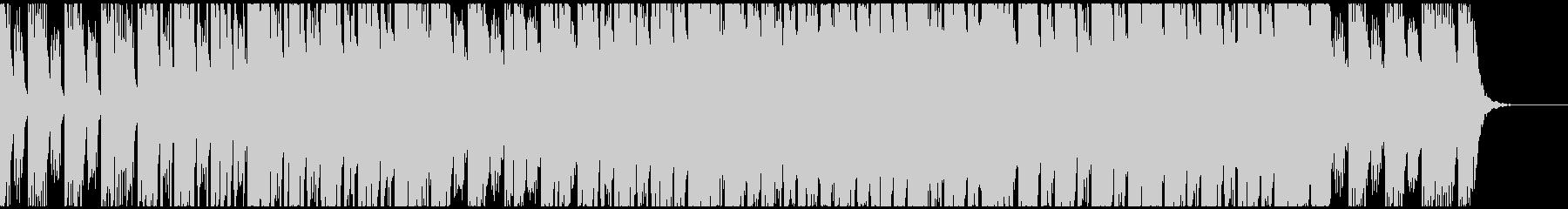 落ち着いたエレピとシンセの未来的なBGMの未再生の波形
