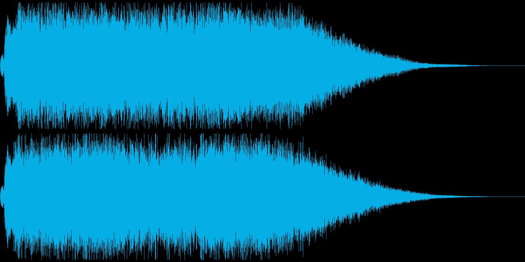 勢いのある和風のロックジングルの再生済みの波形
