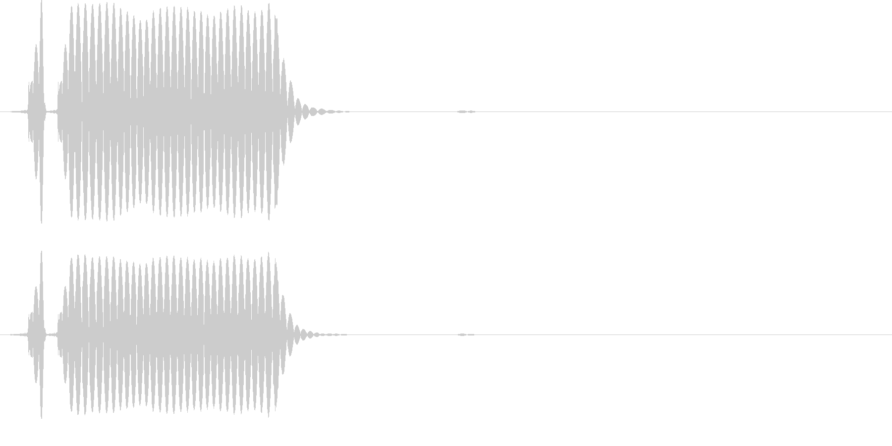 ガバキックのワンショットの未再生の波形