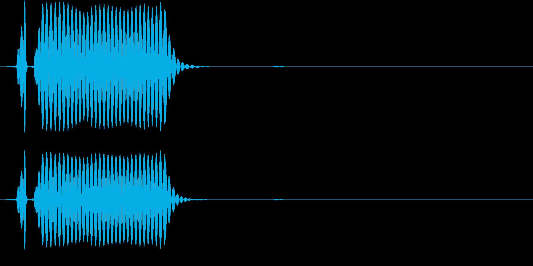 ガバキックのワンショットの再生済みの波形
