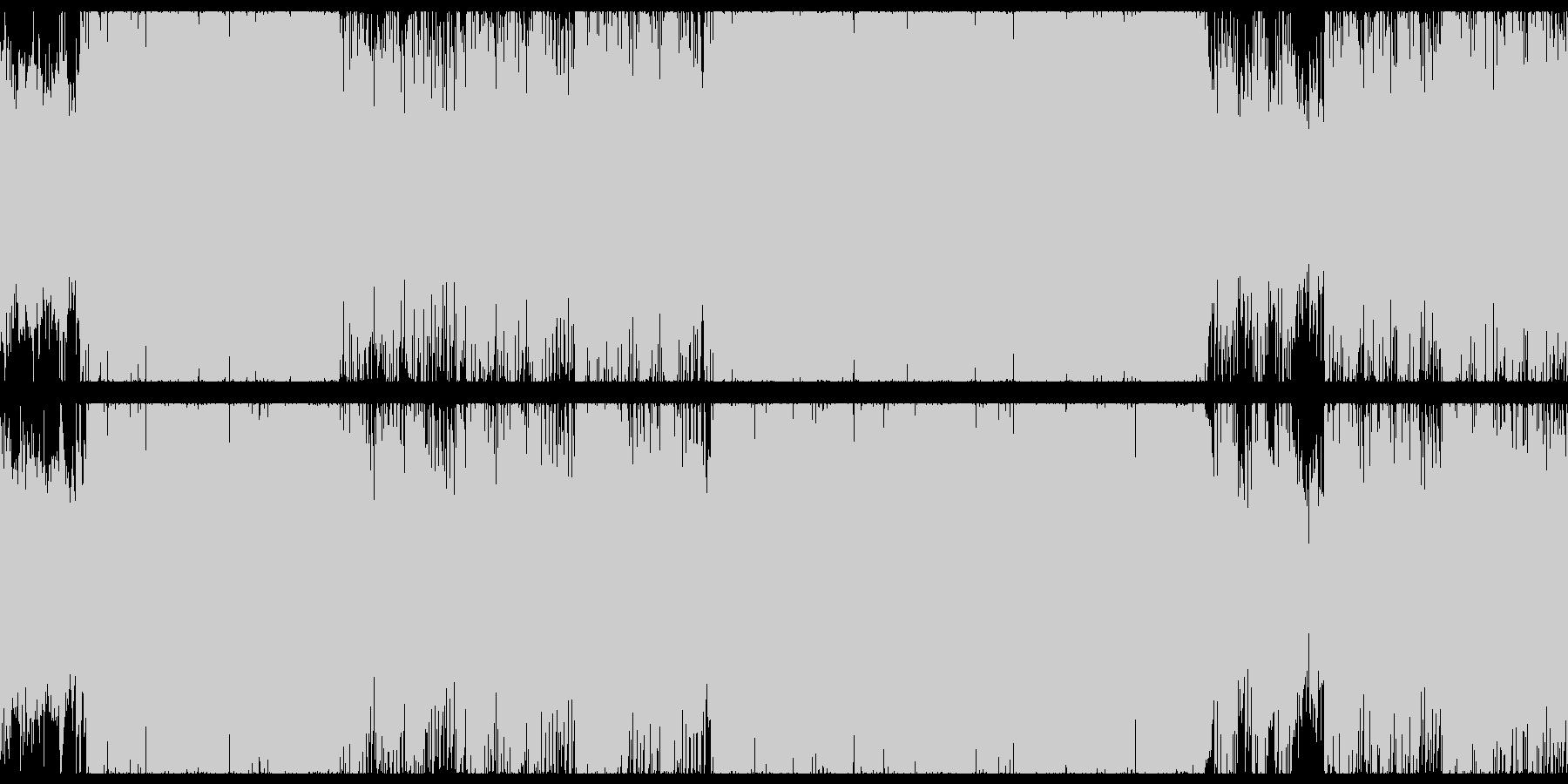 メロディアスで疾走感のある戦闘曲ループの未再生の波形