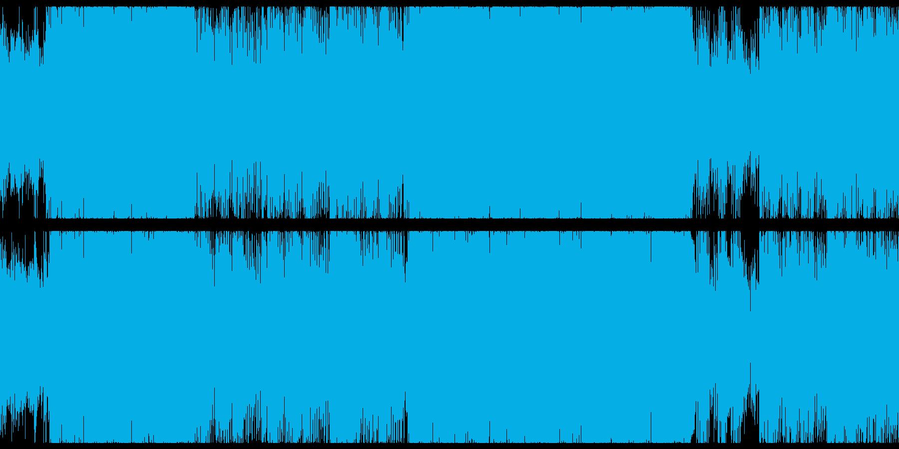 メロディアスで疾走感のある戦闘曲ループの再生済みの波形