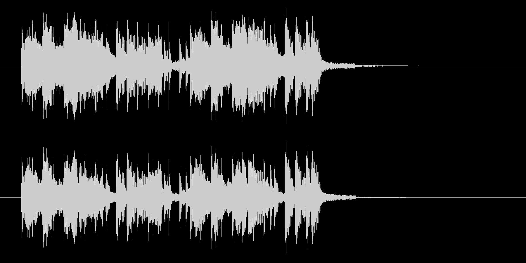 ユニークでかわいいショートサウンドの未再生の波形