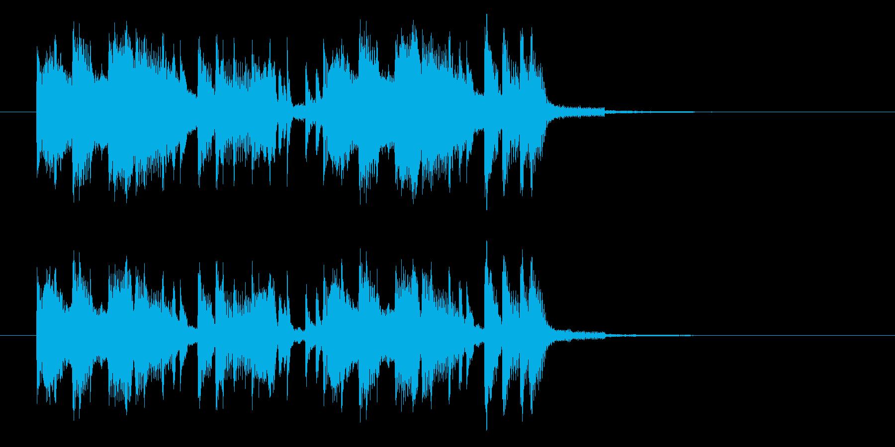 ユニークでかわいいショートサウンドの再生済みの波形