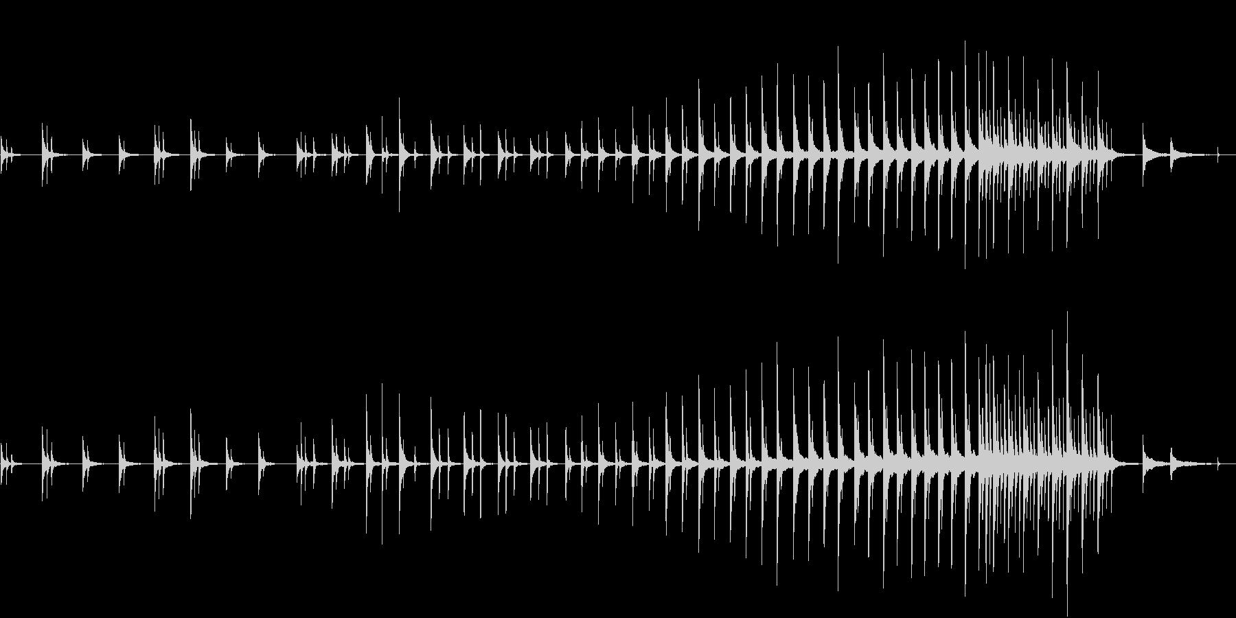 冷たい都会の朝 青い夜明 ■ ピアノソロの未再生の波形