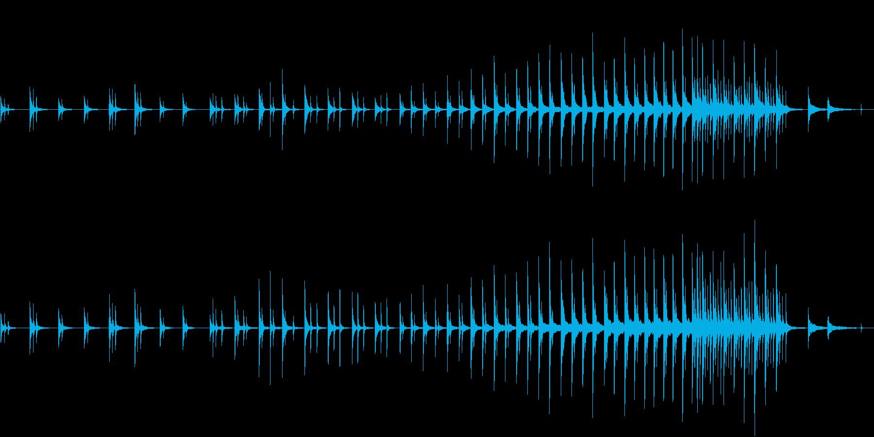 冷たい都会の朝 青い夜明 ■ ピアノソロの再生済みの波形