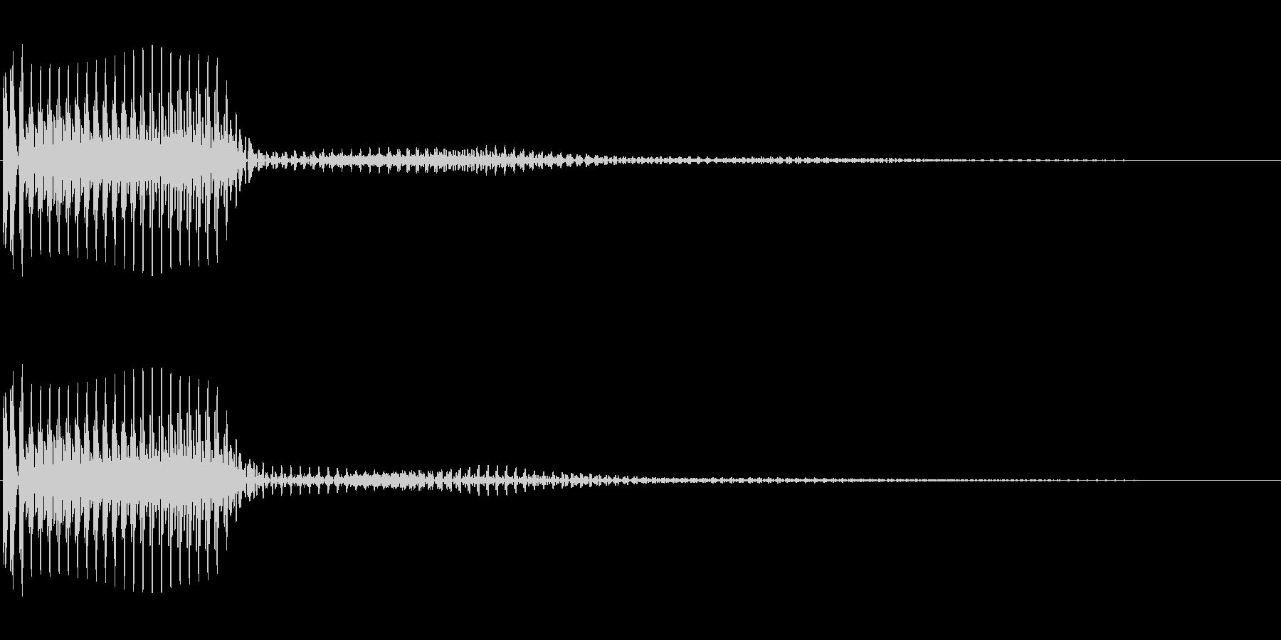 ボタンなどにの未再生の波形