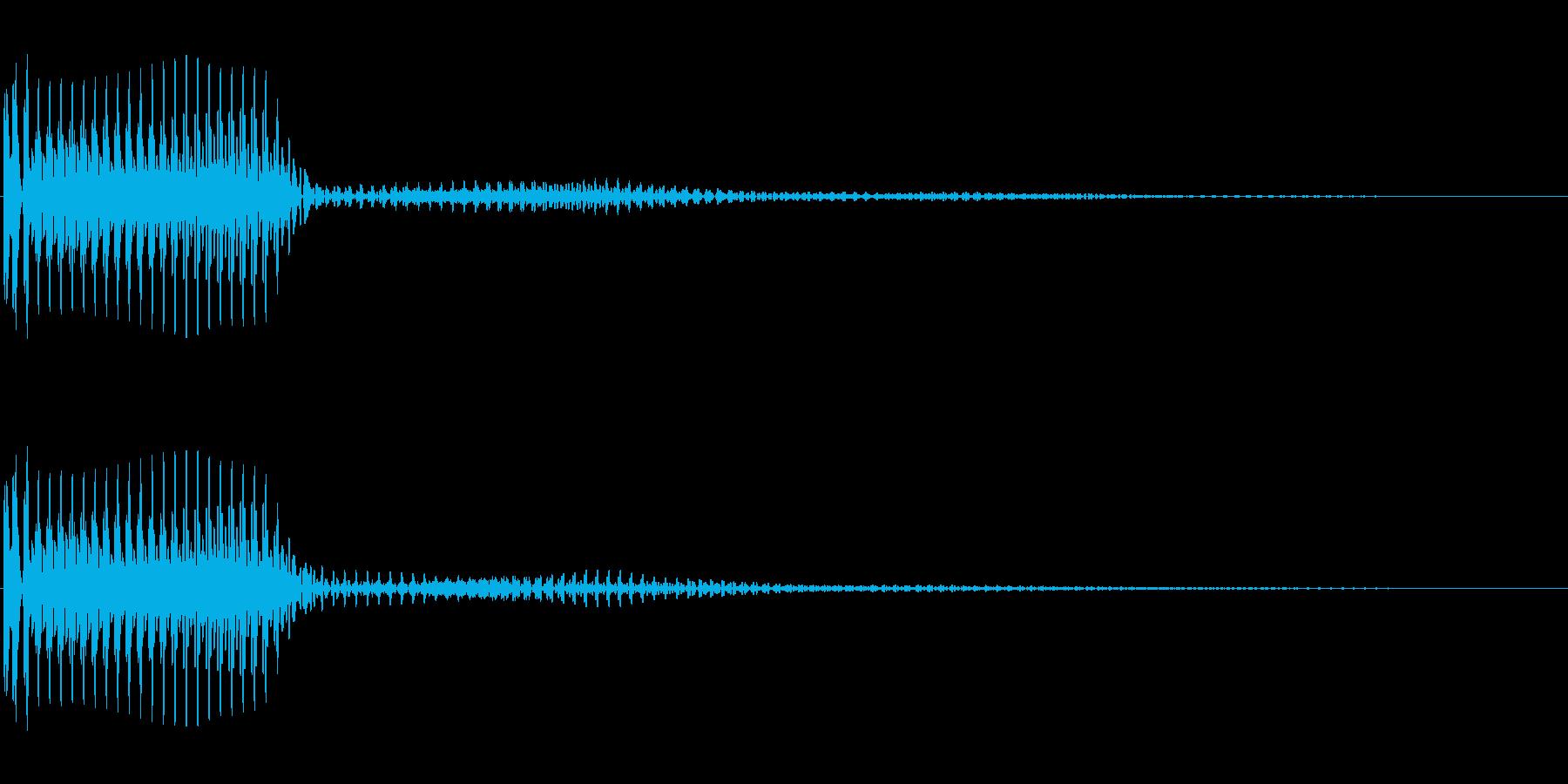 ボタンなどにの再生済みの波形