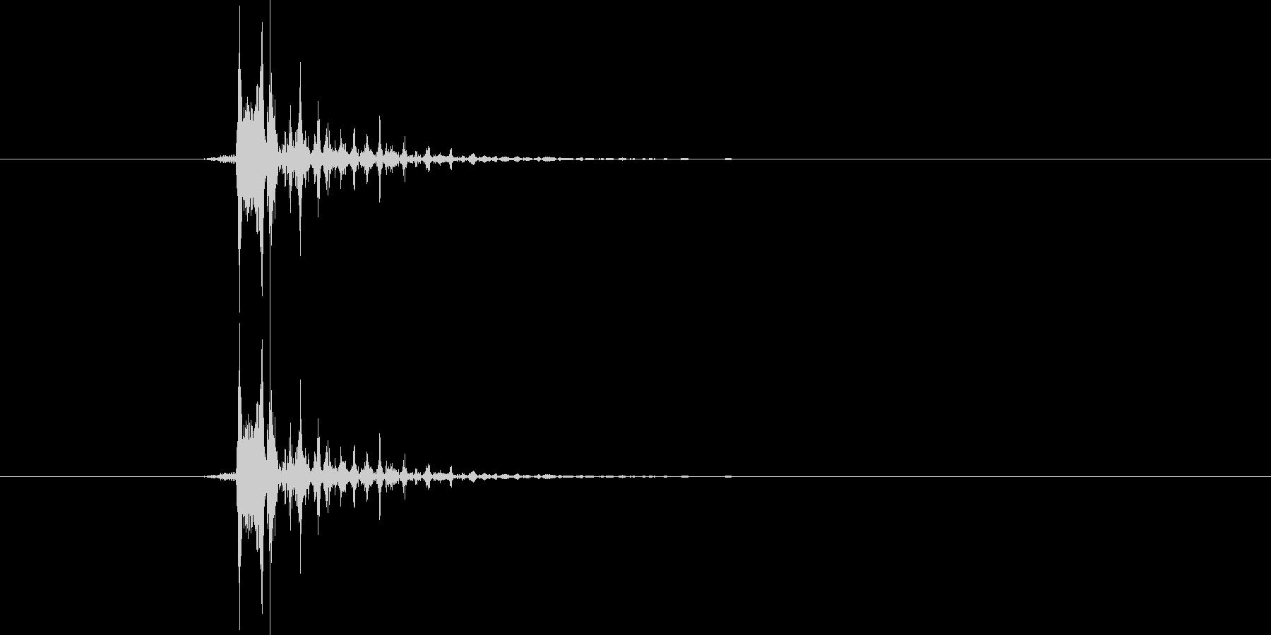 ぴょんの未再生の波形
