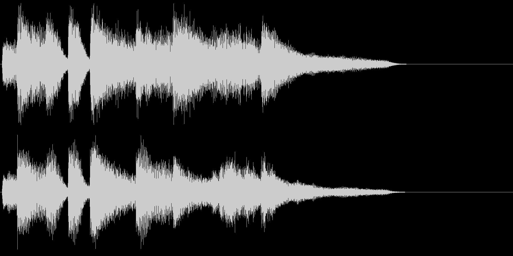 ピアノ ジングル04 ジャズ 大人の未再生の波形