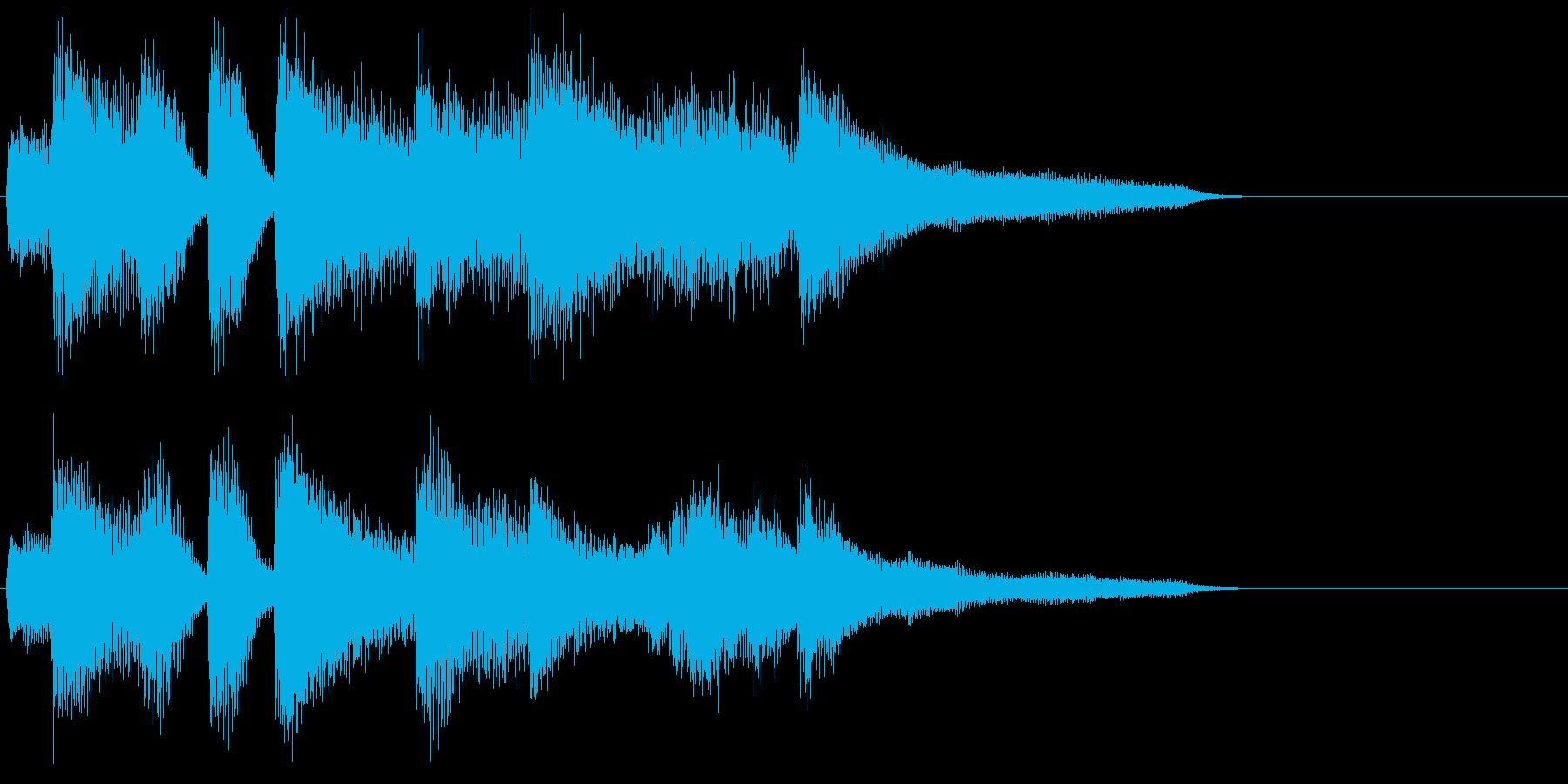 ピアノ ジングル04 ジャズ 大人の再生済みの波形