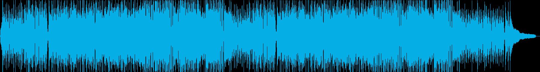 明るくポップでかわいい感じの曲の再生済みの波形