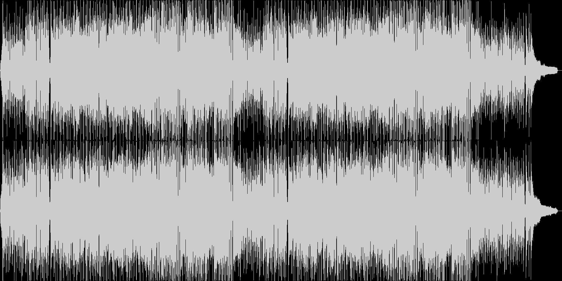 明るくポップでかわいい感じの曲の未再生の波形