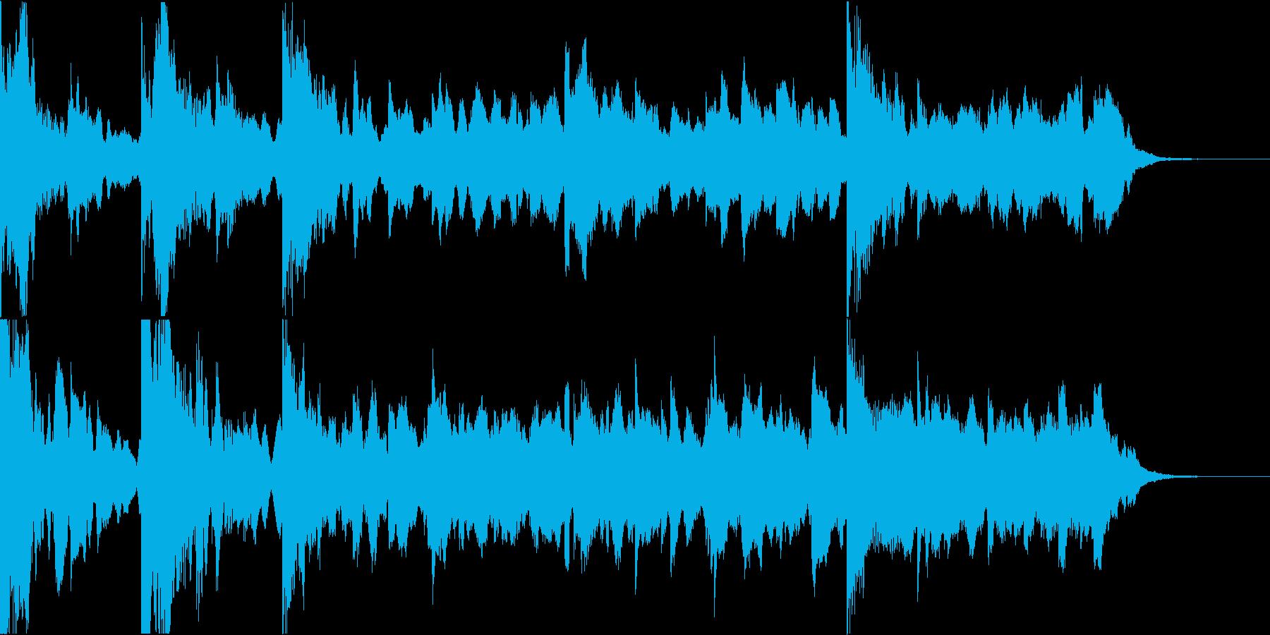 サスペンスなど静かで緊迫感のあるBGMの再生済みの波形
