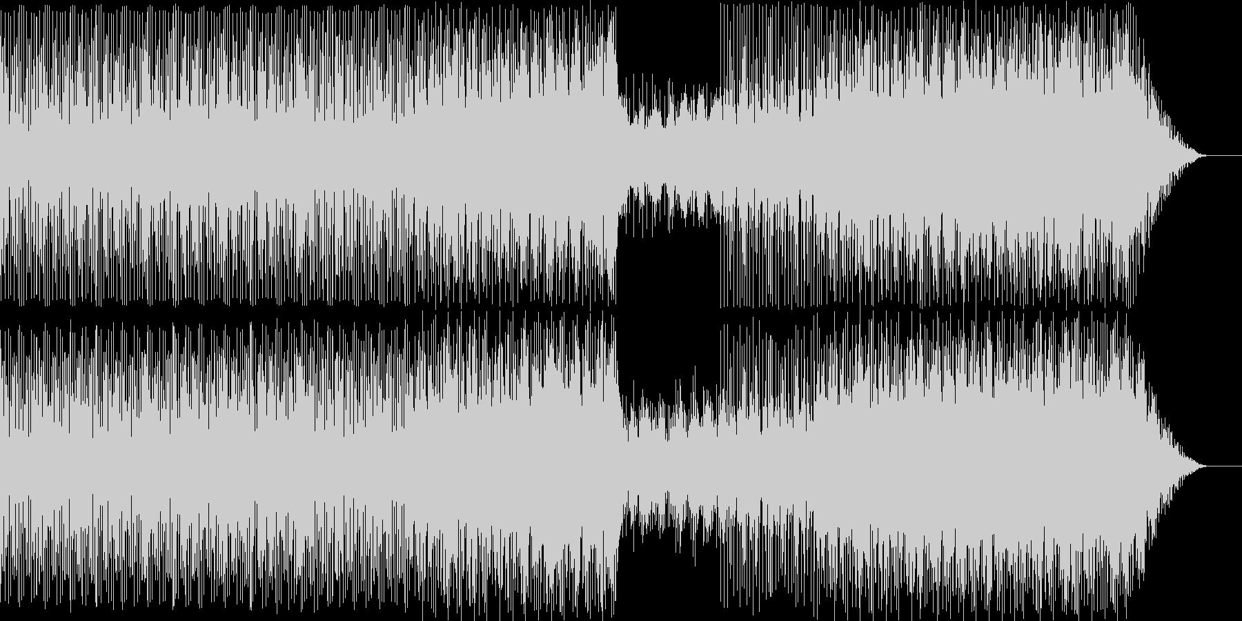 オーケストラとシンセサイザーの戦闘BGMの未再生の波形