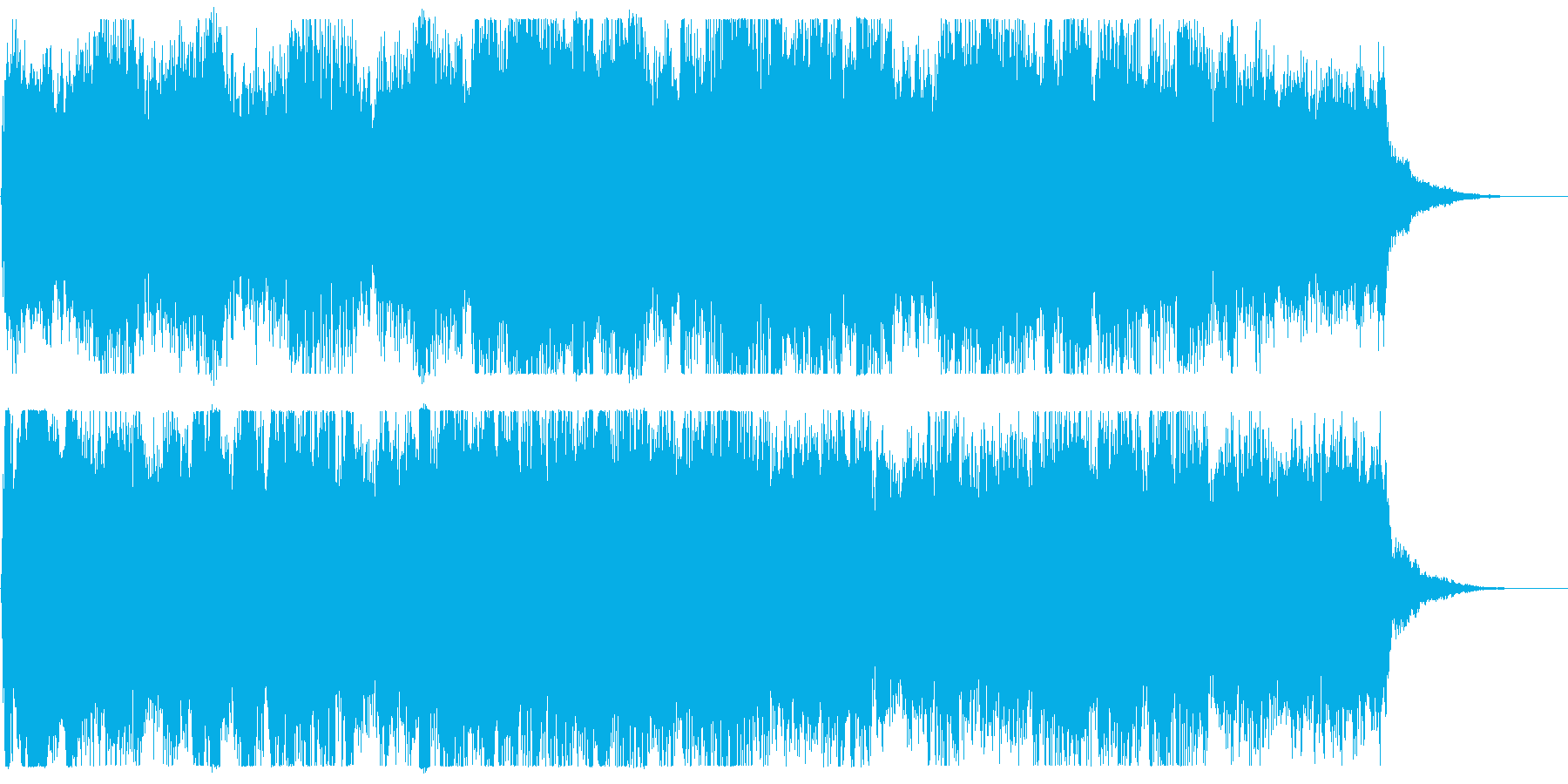 トレーラー、予告編 ファンタジックな曲の再生済みの波形