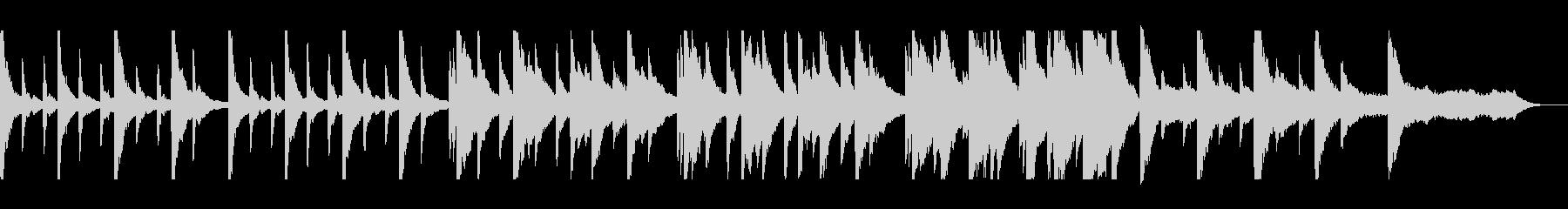 切ないピアノバラードの未再生の波形