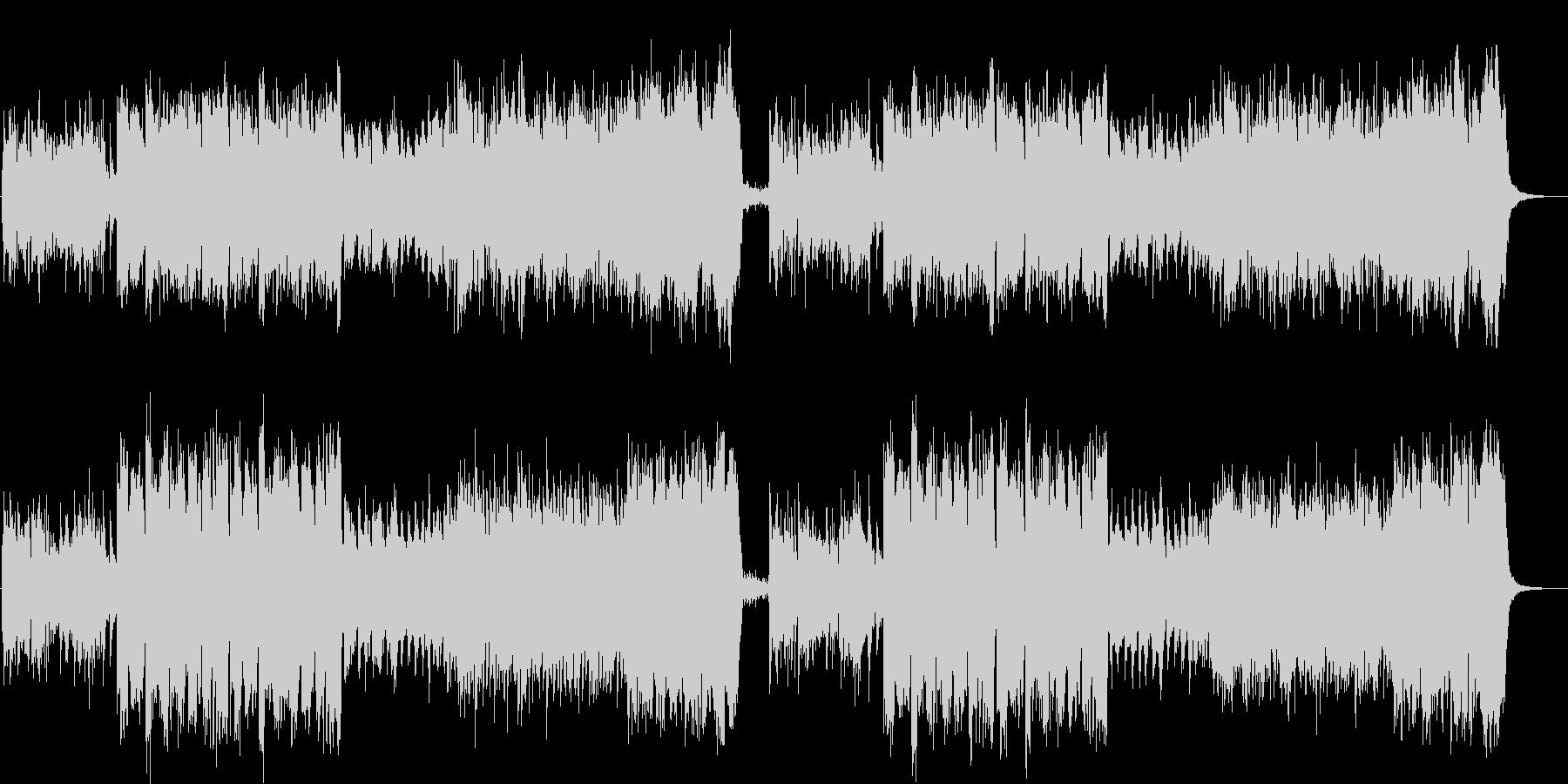 静かな透明感のあるアンビエント調の曲の未再生の波形