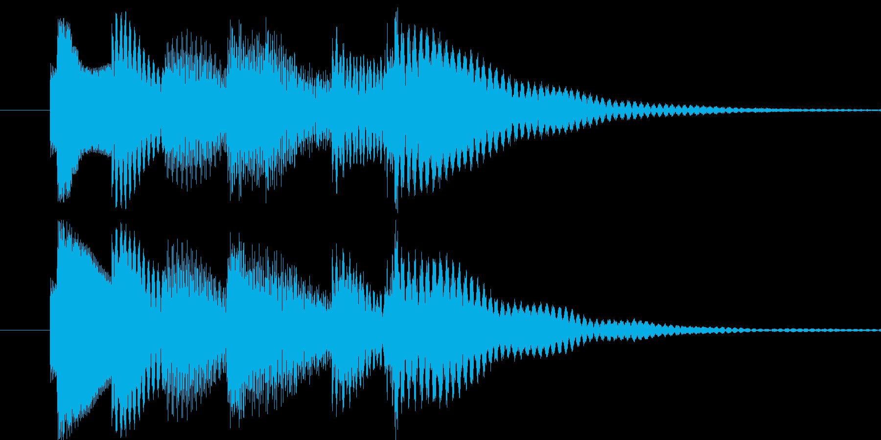 番組コーナーのタイトル音などにの再生済みの波形