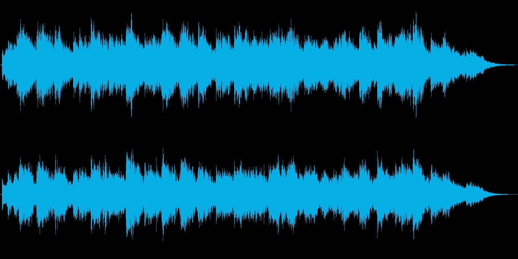 バイオリンの音色のほのぼのとしたジングルの再生済みの波形