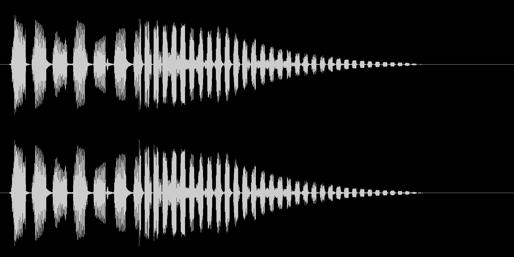 ブヨブヨーン(強めのばねの音)の未再生の波形