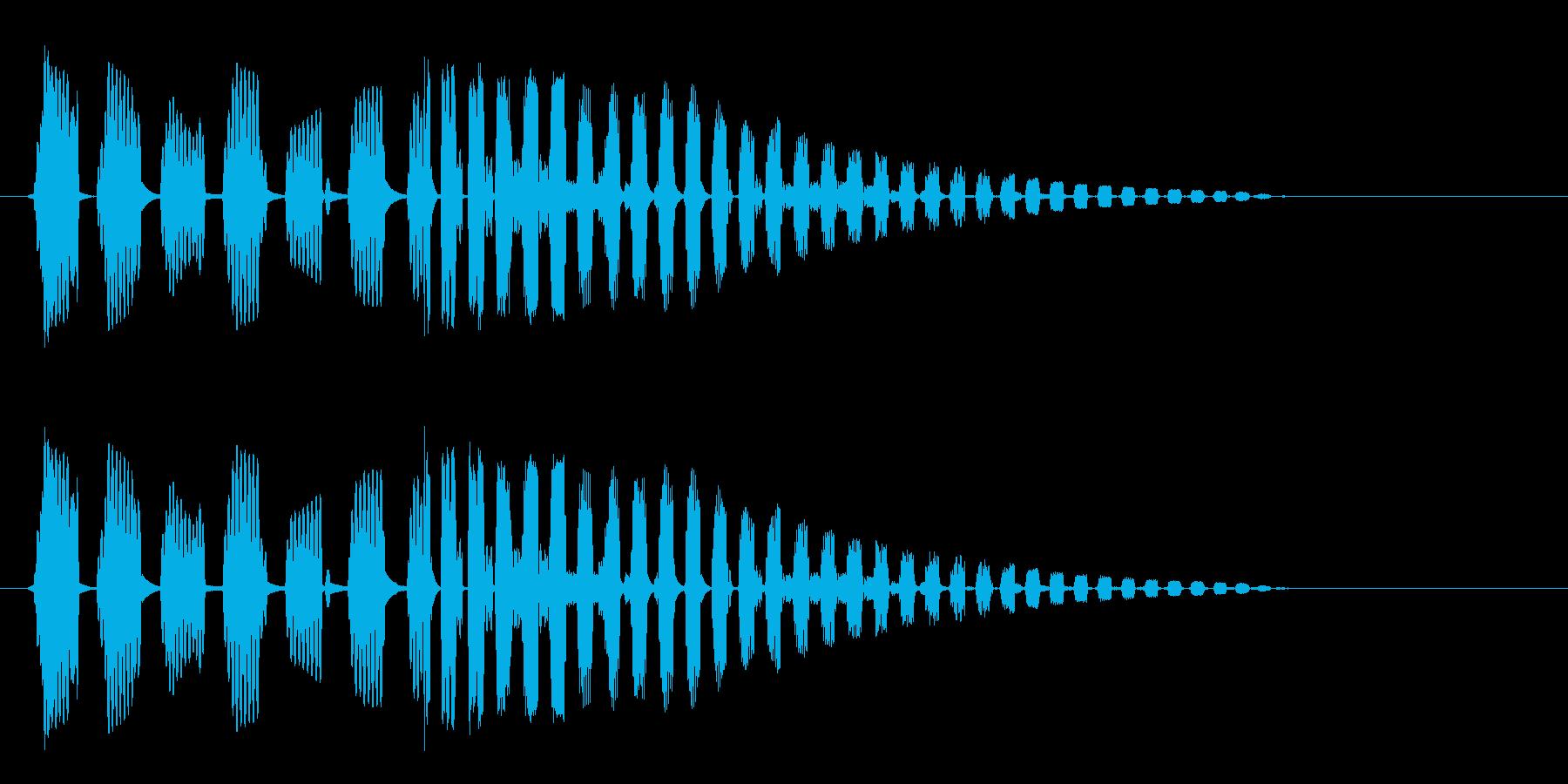 ブヨブヨーン(強めのばねの音)の再生済みの波形