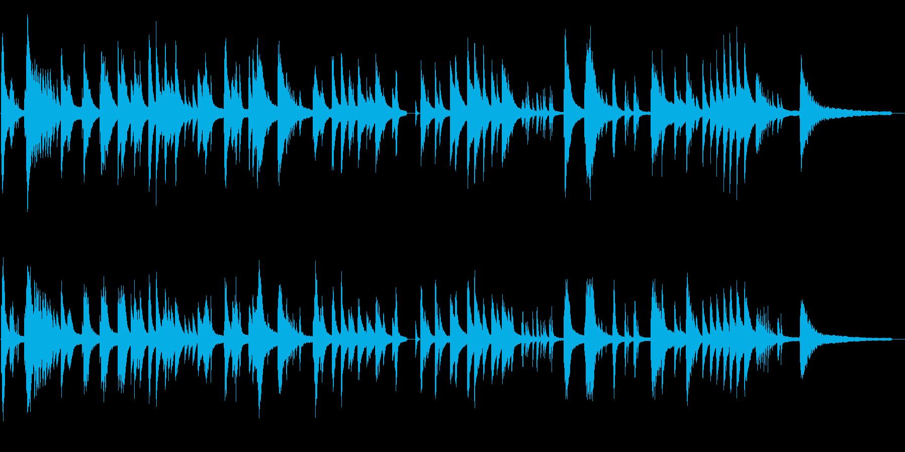 寂しげな現代音楽風ピアノソロの再生済みの波形