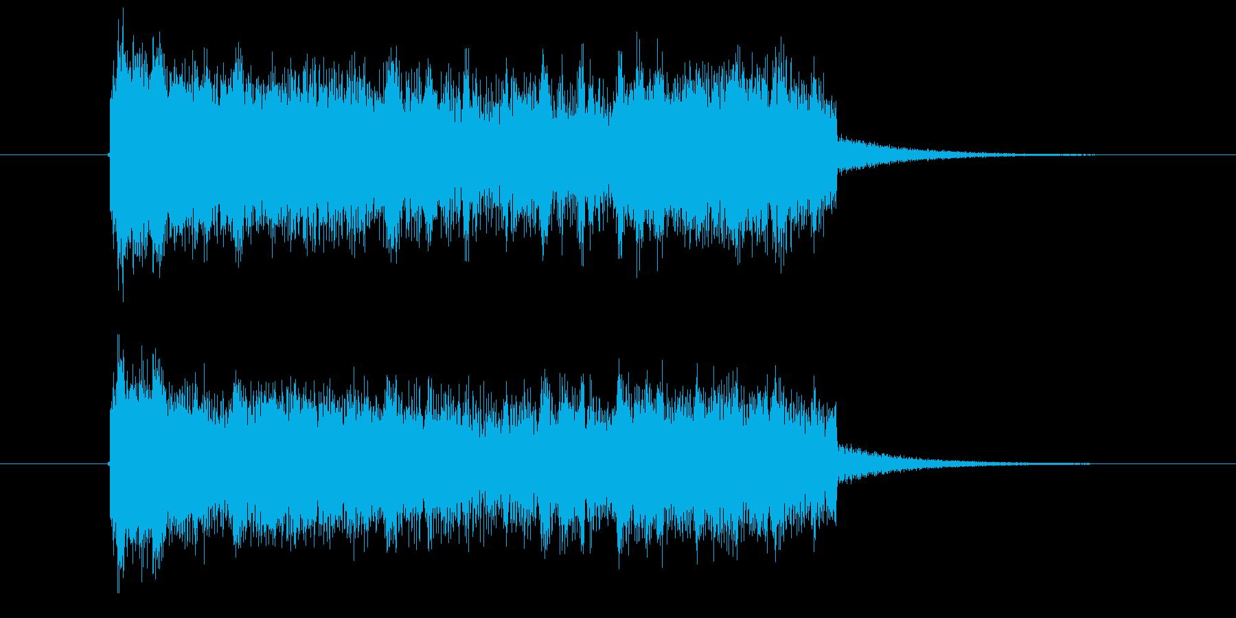 激しく勢いのあるギターシンセサウンド短めの再生済みの波形