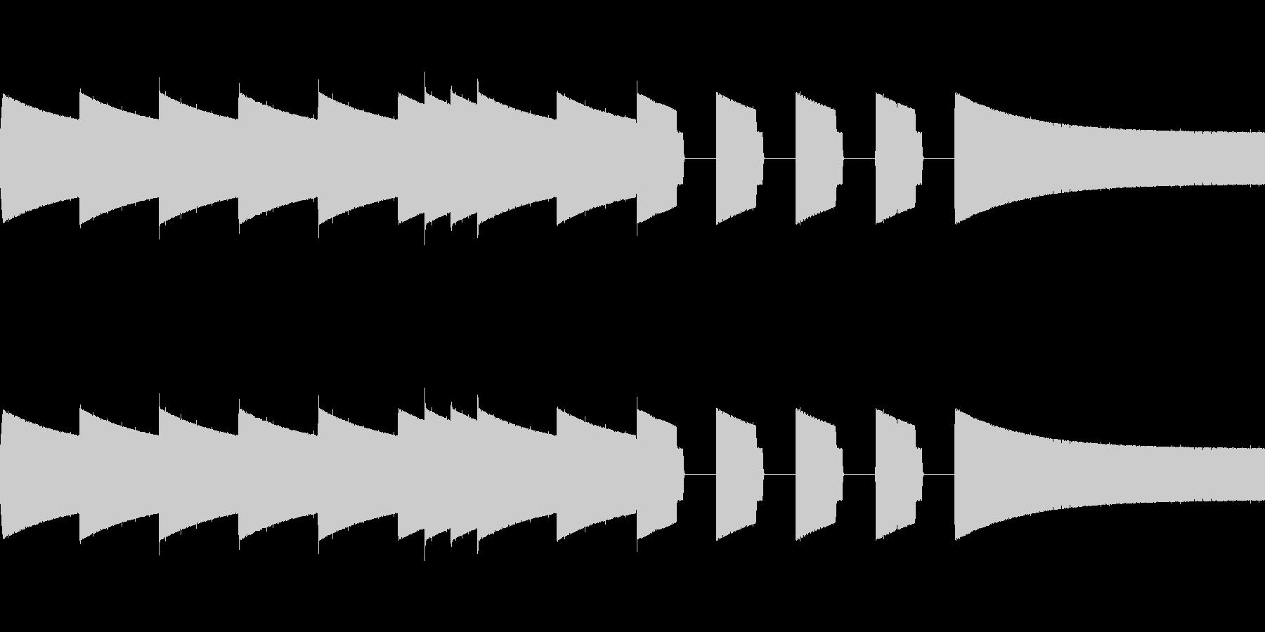 ピコピコ音ジングル、そして夜が明けたの未再生の波形
