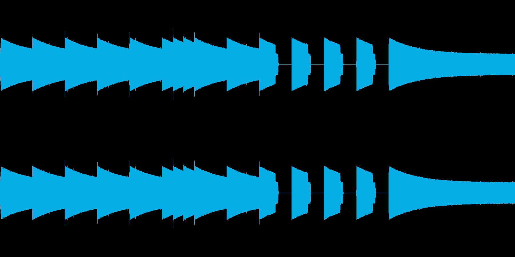 ピコピコ音ジングル、そして夜が明けたの再生済みの波形