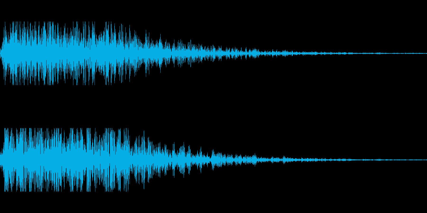 ショック、がびーん、がーん、転落その2の再生済みの波形