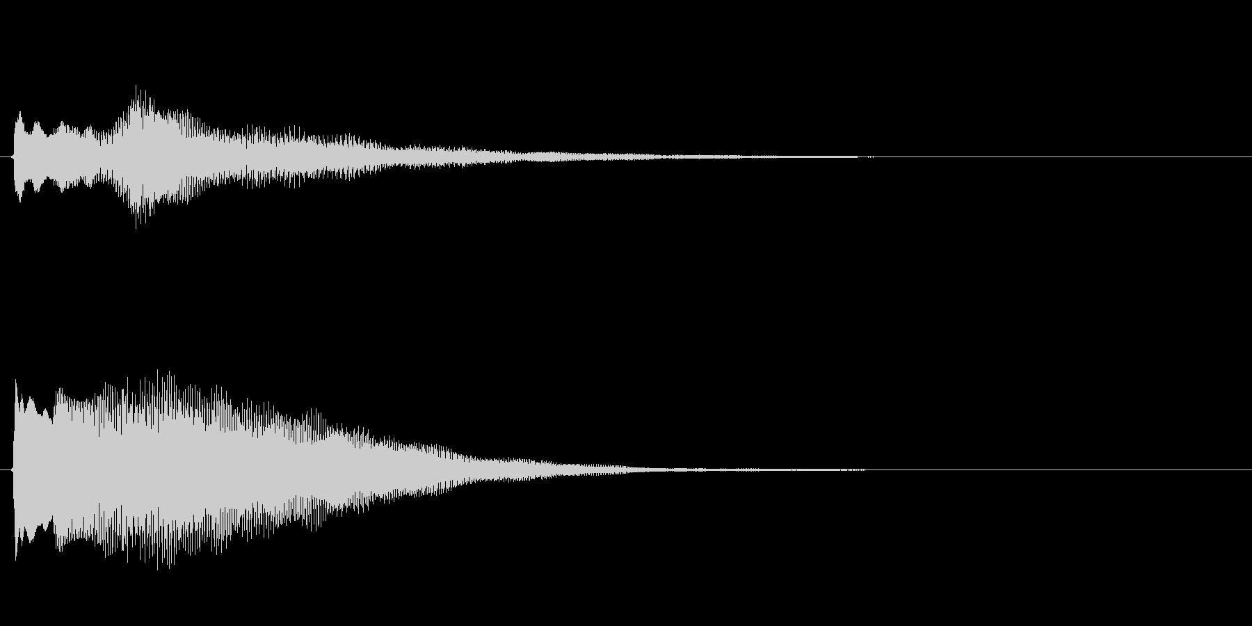 キラキラしたベルの下降音2の未再生の波形