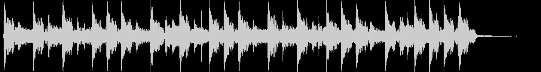 4つ打ちダンスの短いジングルの未再生の波形