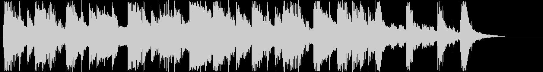 明るいシンセサウンド短めの未再生の波形