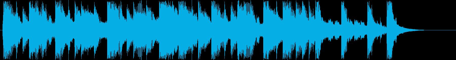 明るいシンセサウンド短めの再生済みの波形