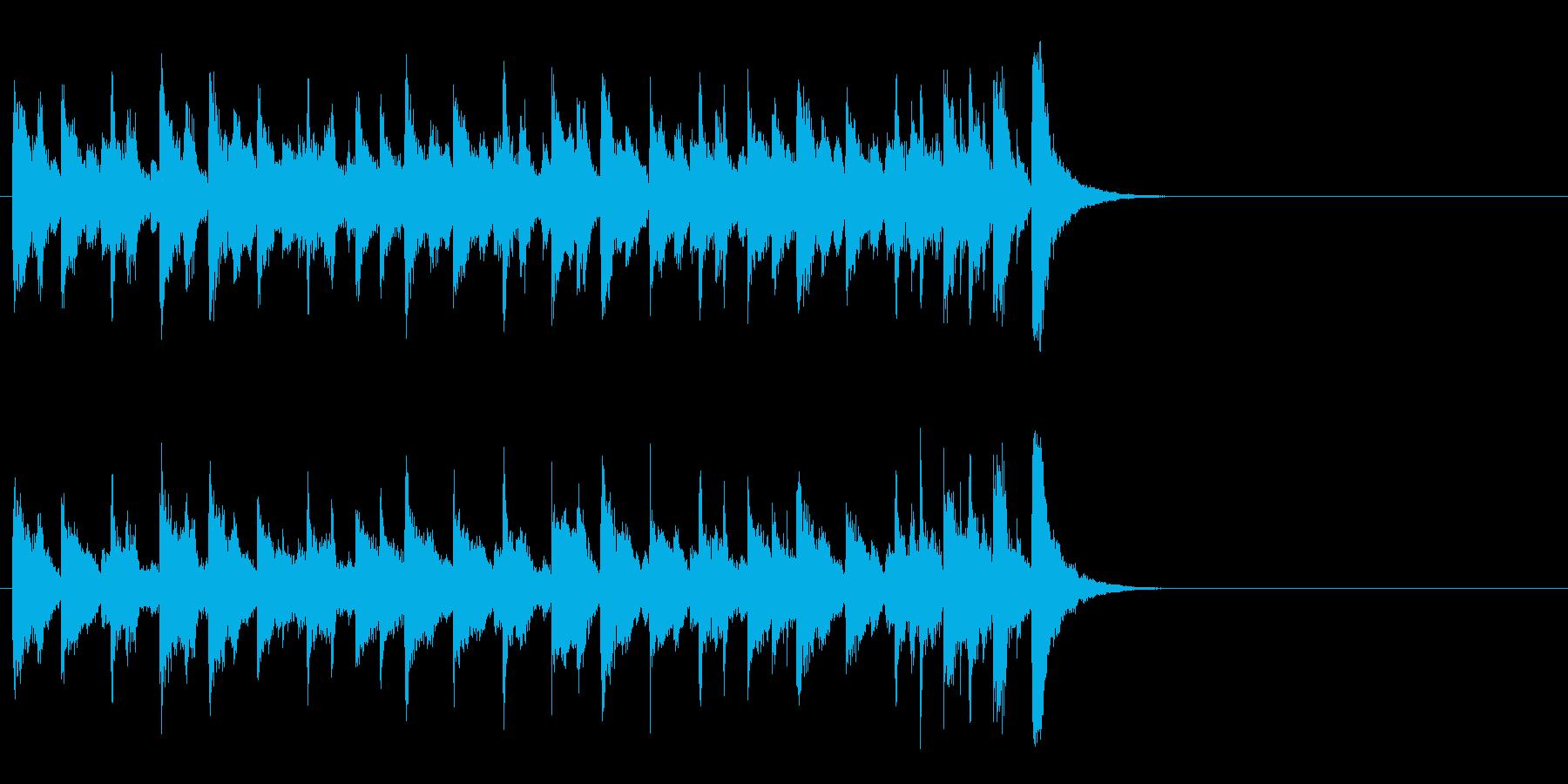 和やかなポップ BGM(イントロ)の再生済みの波形