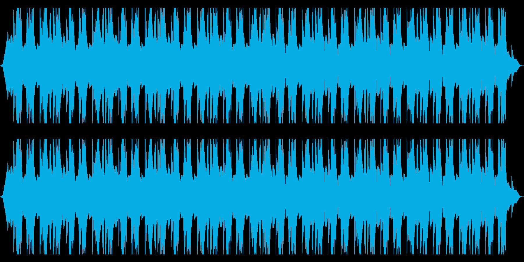 エレキのキーボードの切ない曲の再生済みの波形