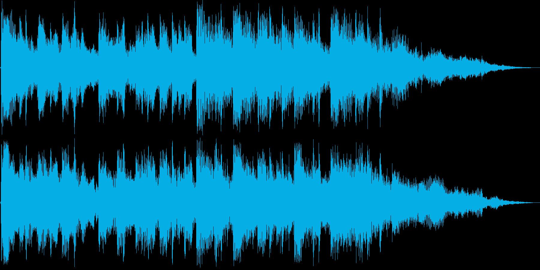 爽やかなサウンドロゴ、ジングルの再生済みの波形