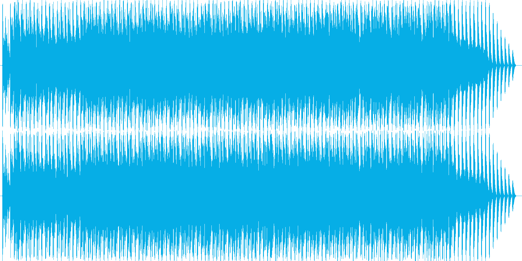 和風とダンステクノを組み合わせたBGM…の再生済みの波形