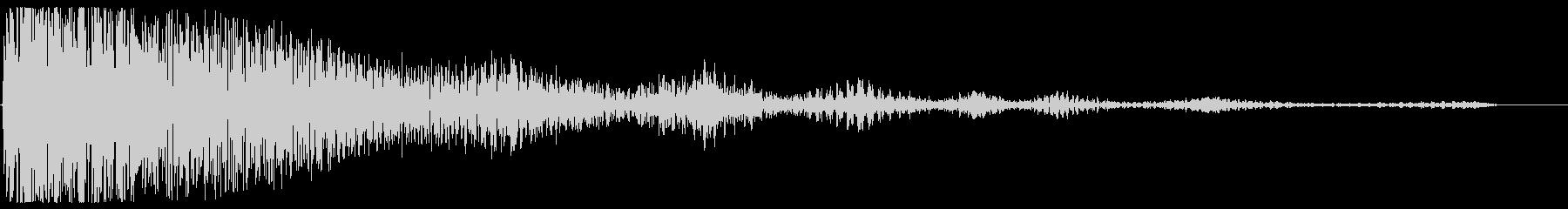 残念なイメージの効果音(ティンパニー系)の未再生の波形