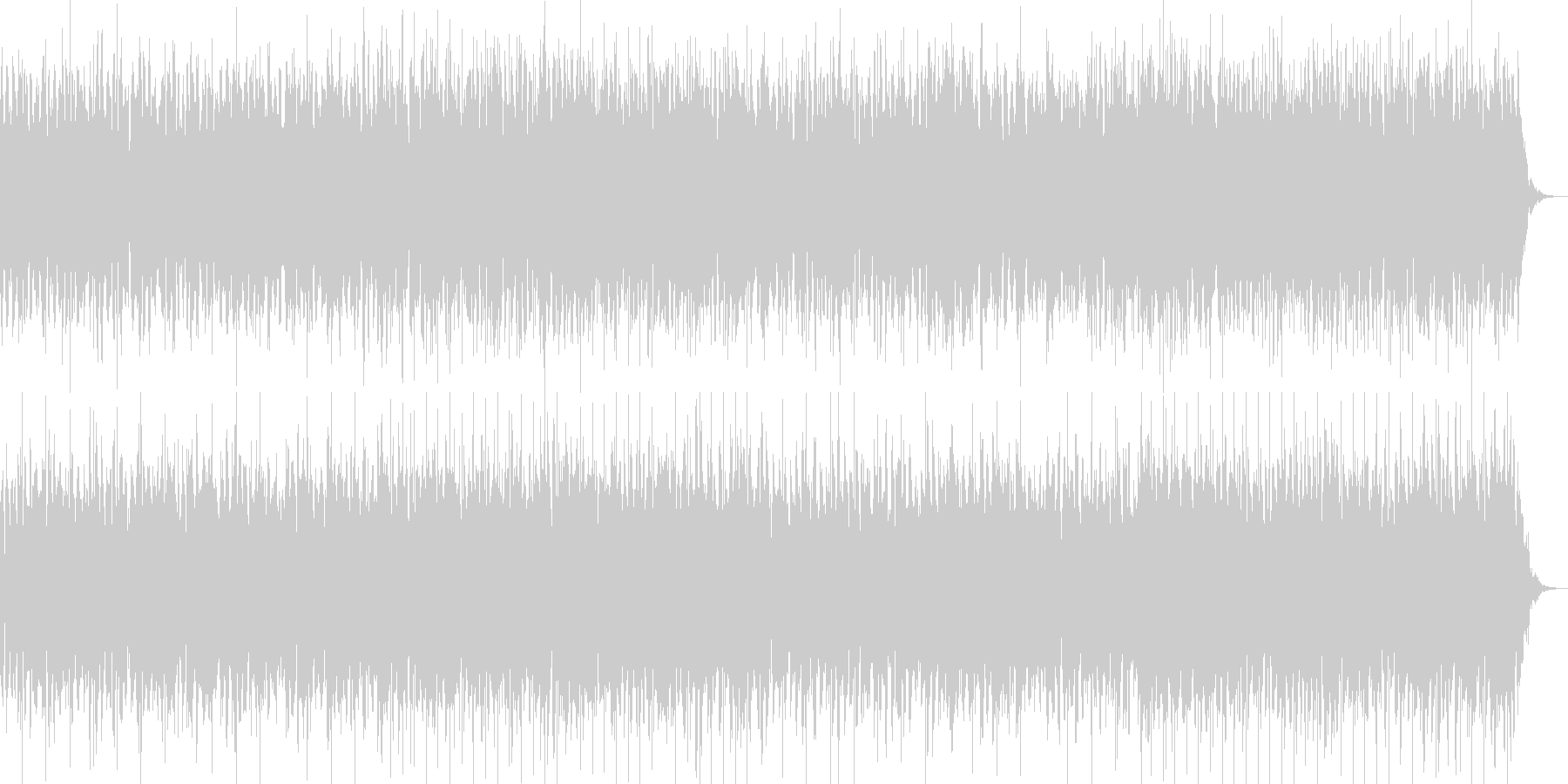 アーバンでドリーミーなシンセBGMの未再生の波形
