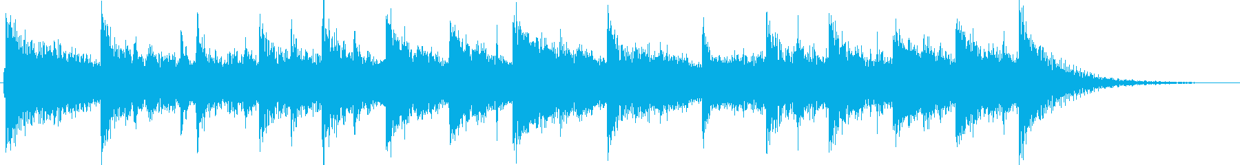 エスニックでエレクトリックなジングルの再生済みの波形