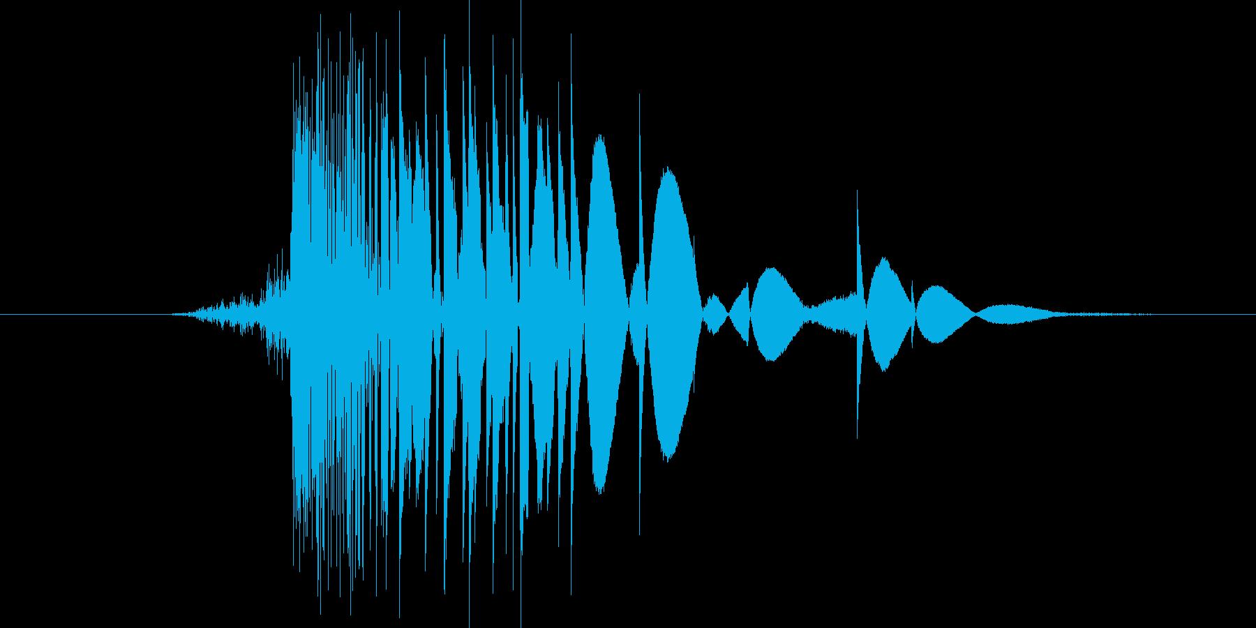 ゲーム(ファミコン風)ヒット音_001の再生済みの波形