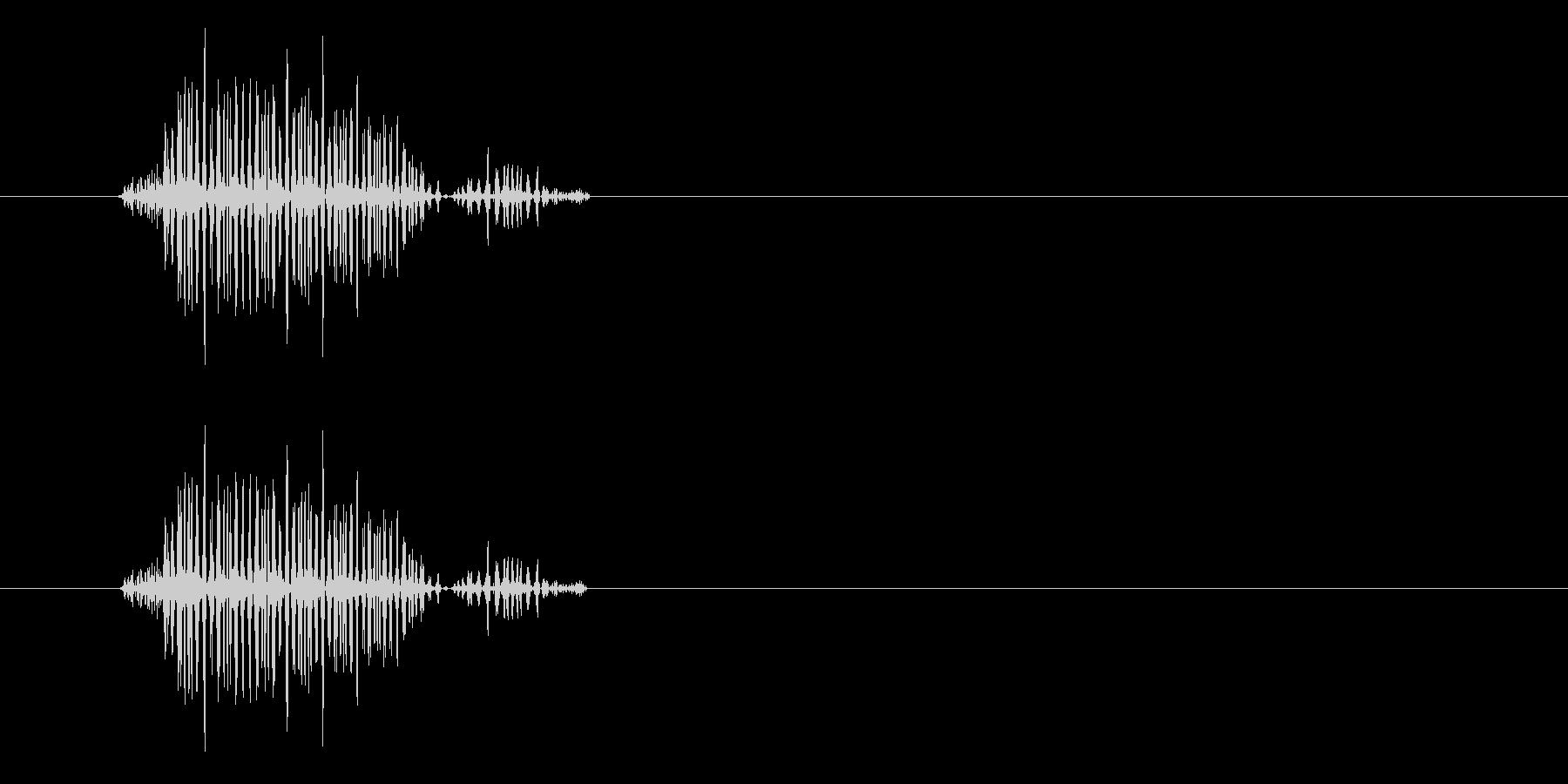 シュッ(濁りのあるかすり音)の未再生の波形
