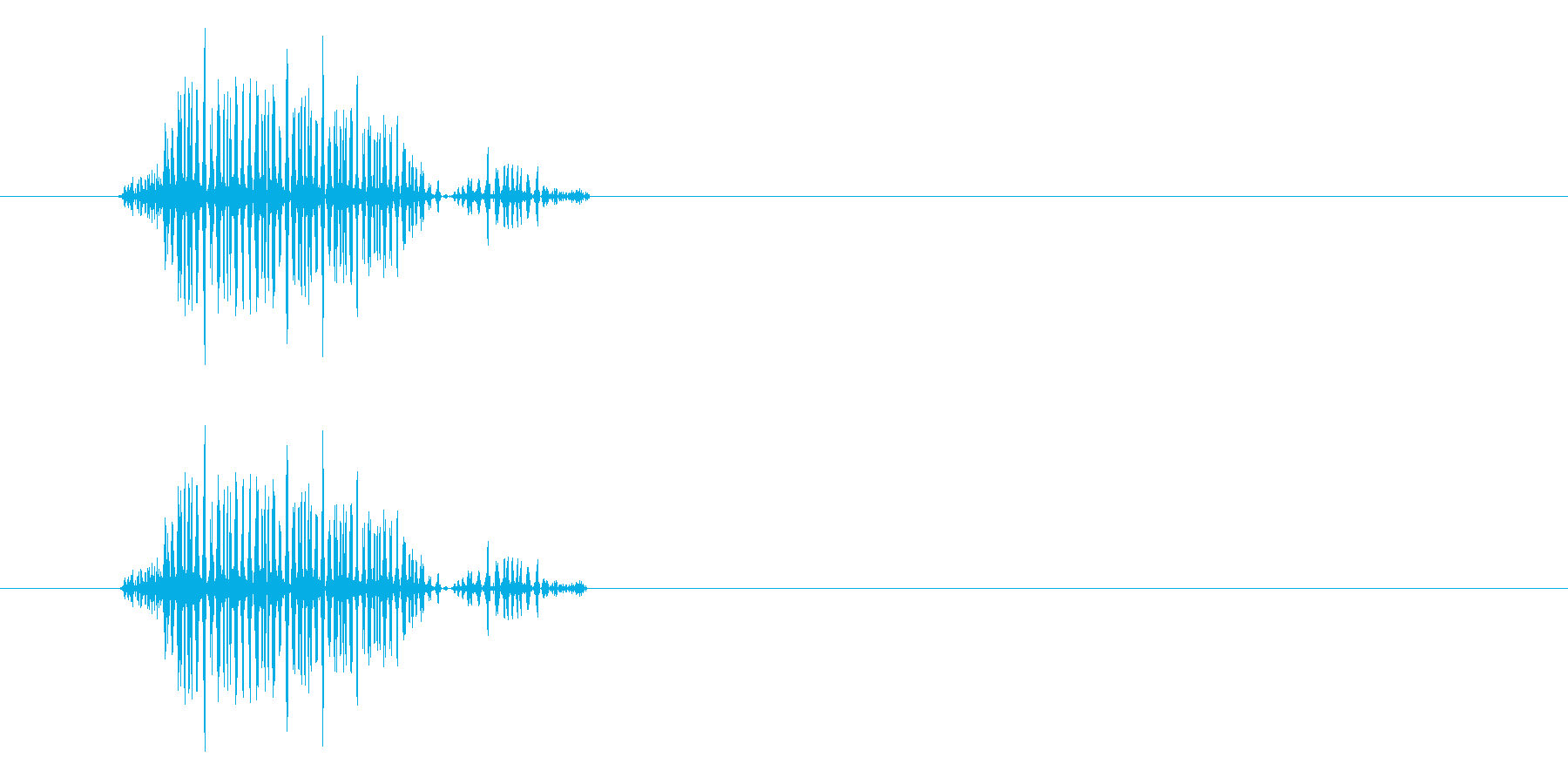 シュッ(濁りのあるかすり音)の再生済みの波形