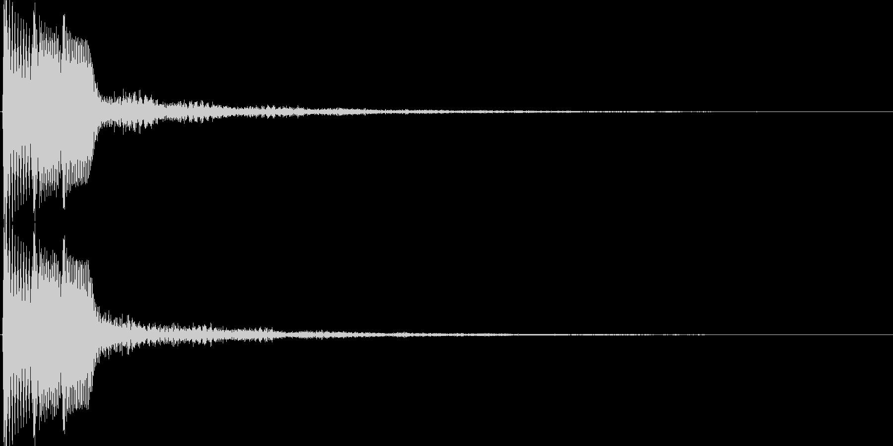 ピコ(ゲーム、アプリなどの操作音12)の未再生の波形
