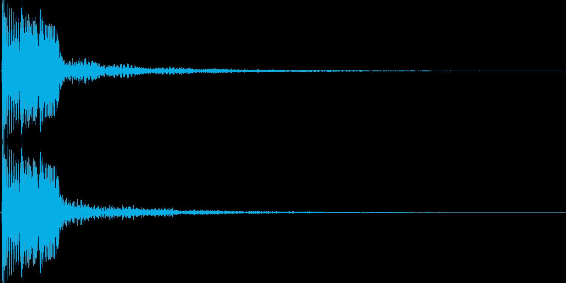 ピコ(ゲーム、アプリなどの操作音12)の再生済みの波形