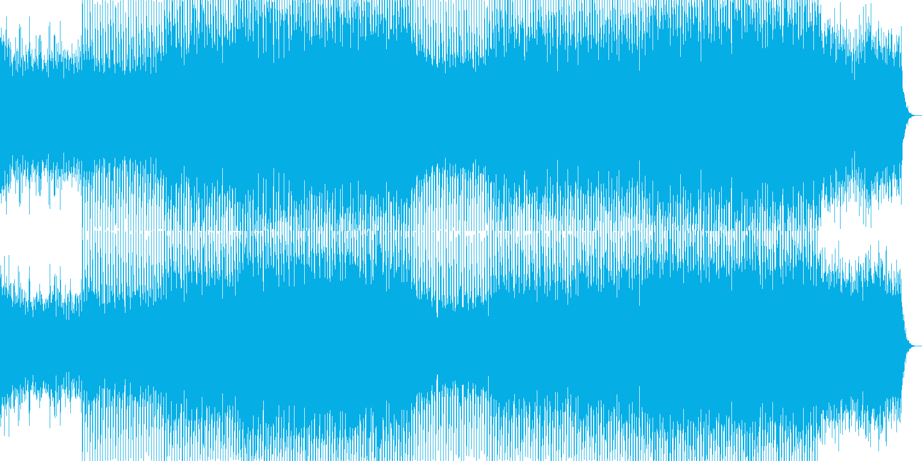 EDMクラブ系ダンスミュージック-17の再生済みの波形