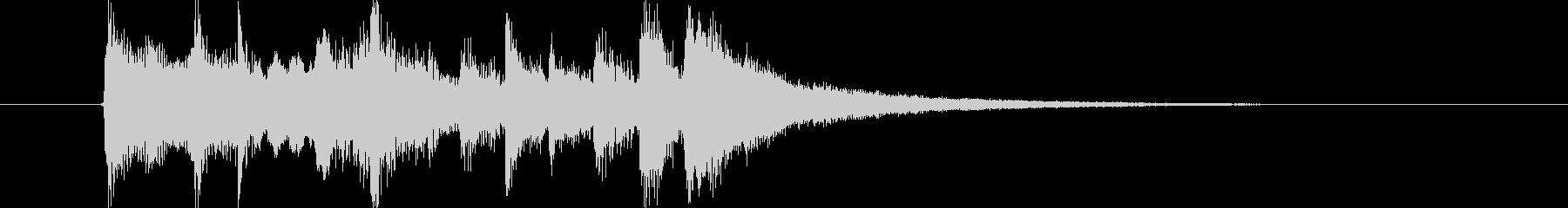 軽快なリズムが特徴のポップなジングルの未再生の波形
