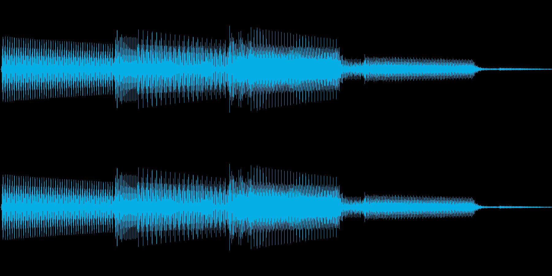 ボタン決定音システム選択タッチ登録B06の再生済みの波形